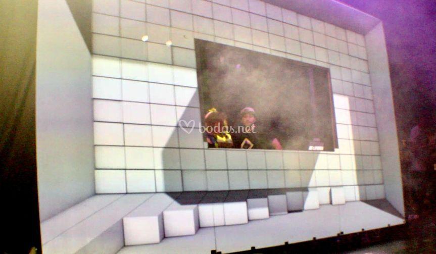 Cabina DJ videomapping 3D