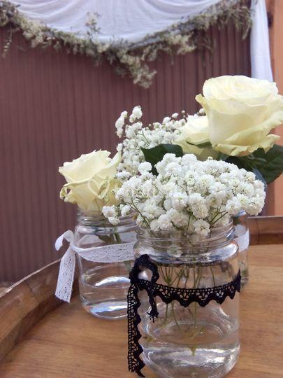 Detalles florales para la ceremonia