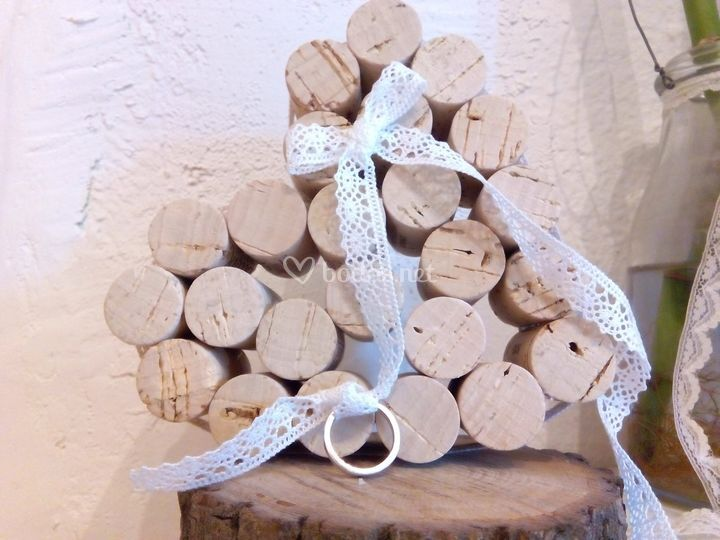 Porta anillos de tapones de vino