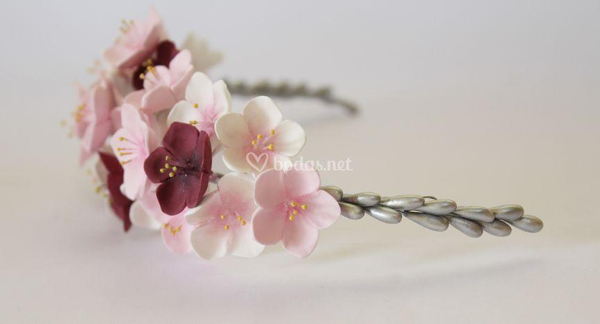 Semicorona de flores