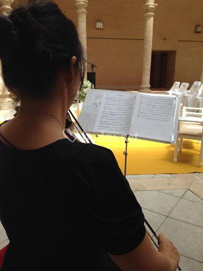 Violín en una ceremonia