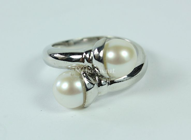 Sortija novia perla