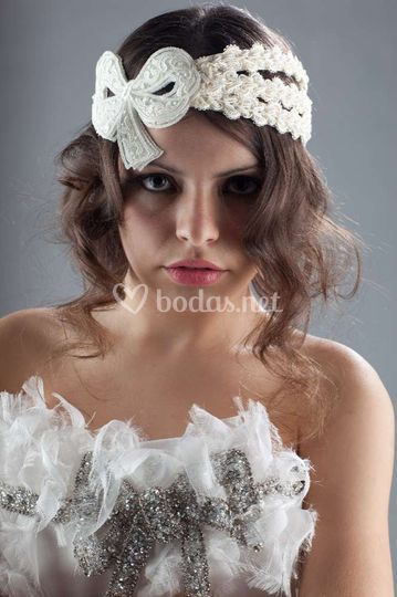 Tocado de novia vintage