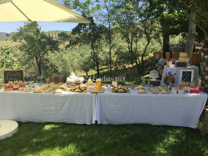 Mesa de quesos para bodas