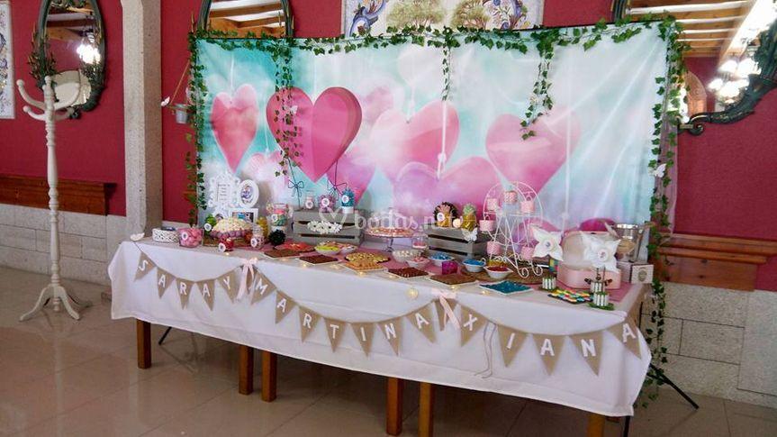 Personalización de mesas dulces