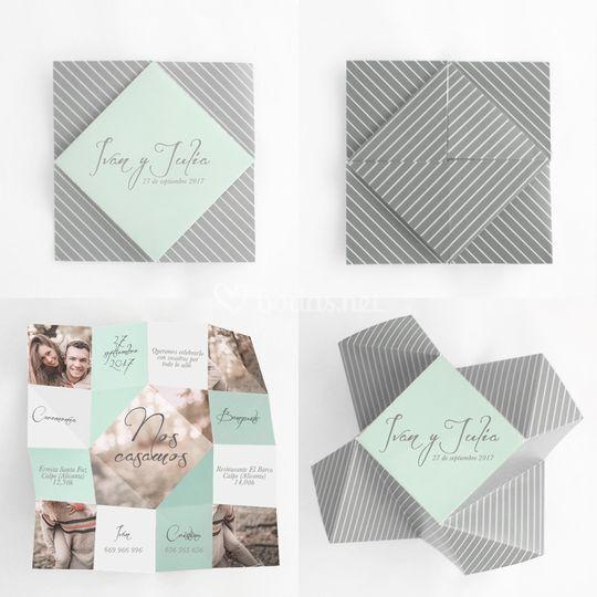 Invitación origami