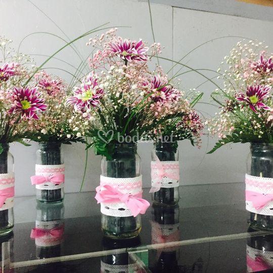 Centros mesas restaurantes de flores y decoraci n la for Centros de mesa para restaurantes