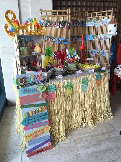 Candy bar estilo hawaiana