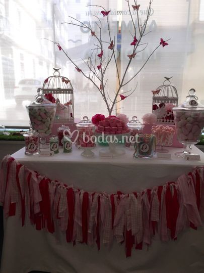 Candy bar de estilo romantico