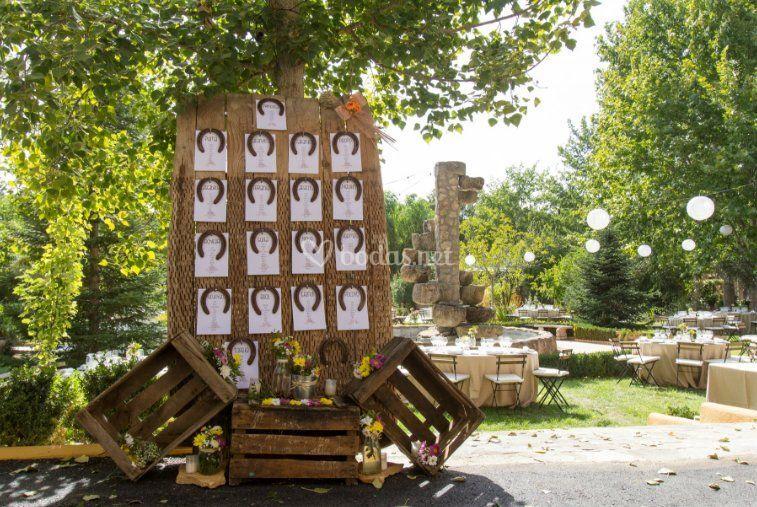 decoración para una boda de finca condado de cubillana | foto 52