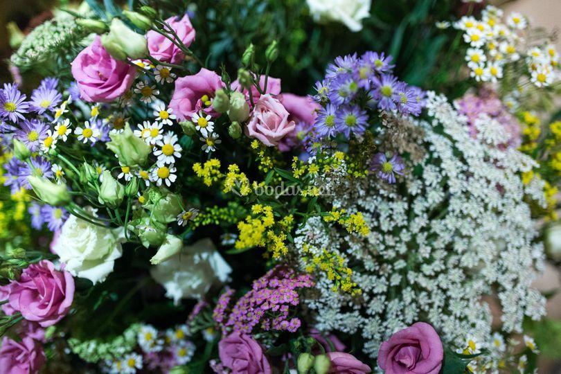 Combinación flores