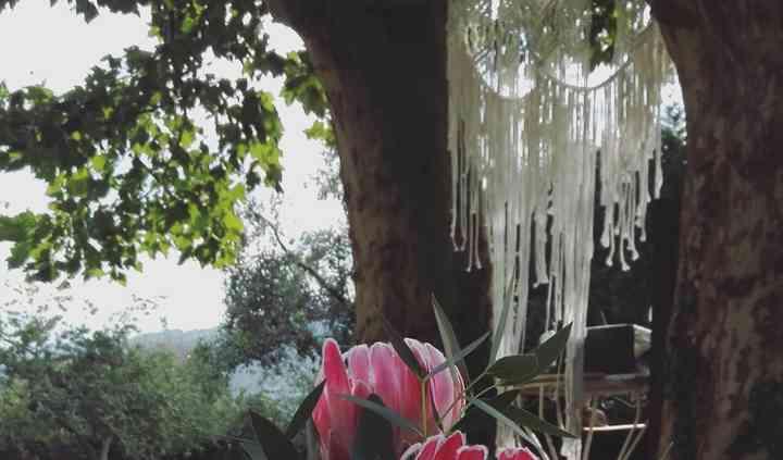 Decoración mesas jardín