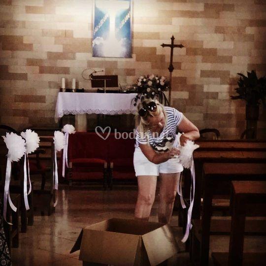 Montaje expres en iglesias
