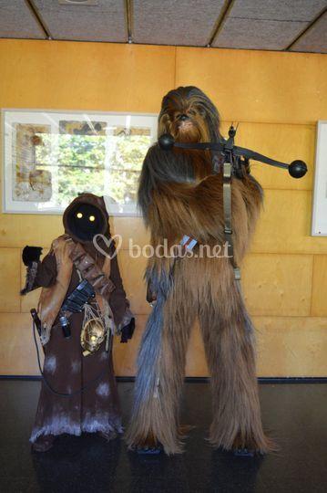 Jawa y Chewbacca