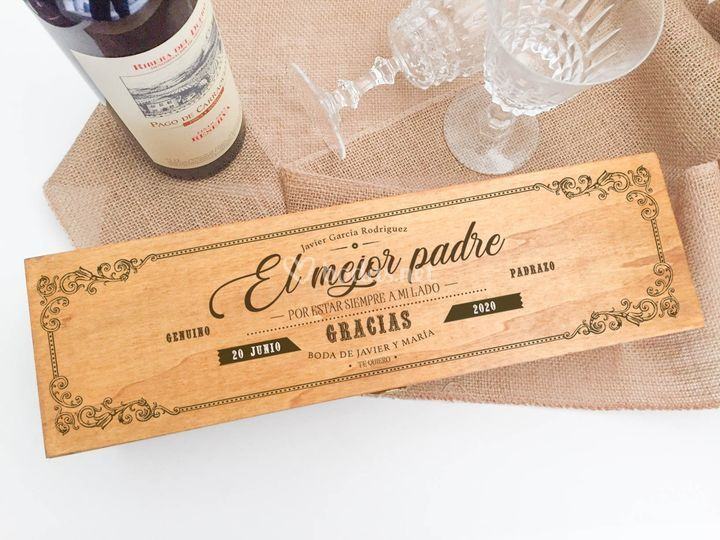 Caja Porta botella de vino