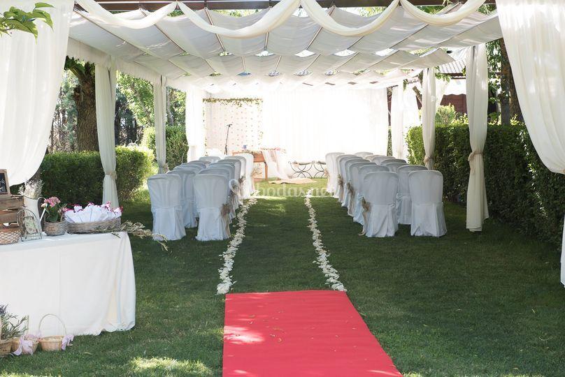 Decoración para ceremonia civil