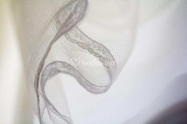 Detalles tul vestido novia