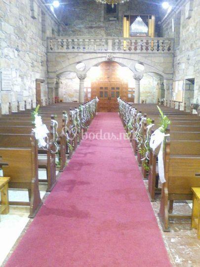 Pasillo de la iglesia