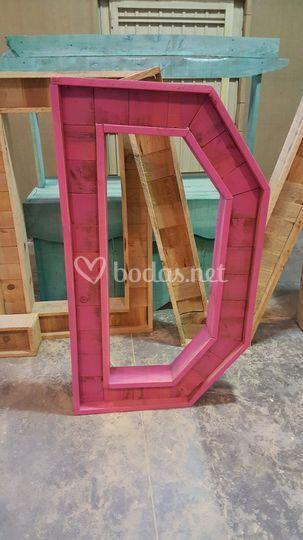 Letras madera color