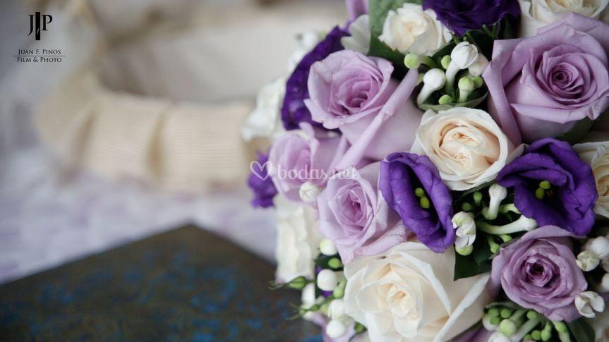 Detalle del ramo novia
