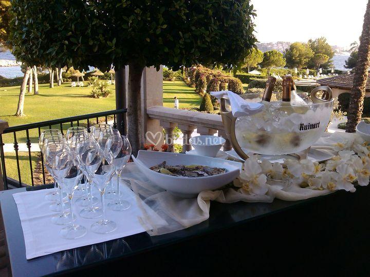 Champagne ostras hotel mardava