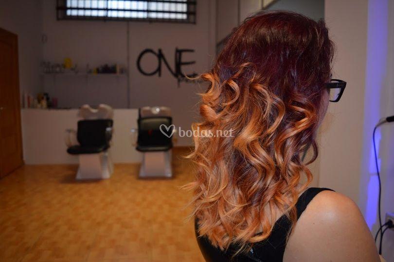 Peinado ondas