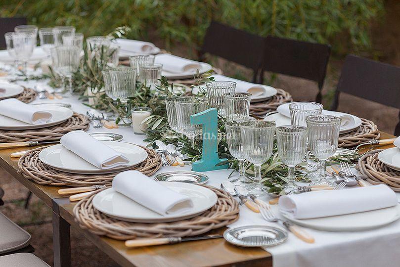 Mesa para una boda