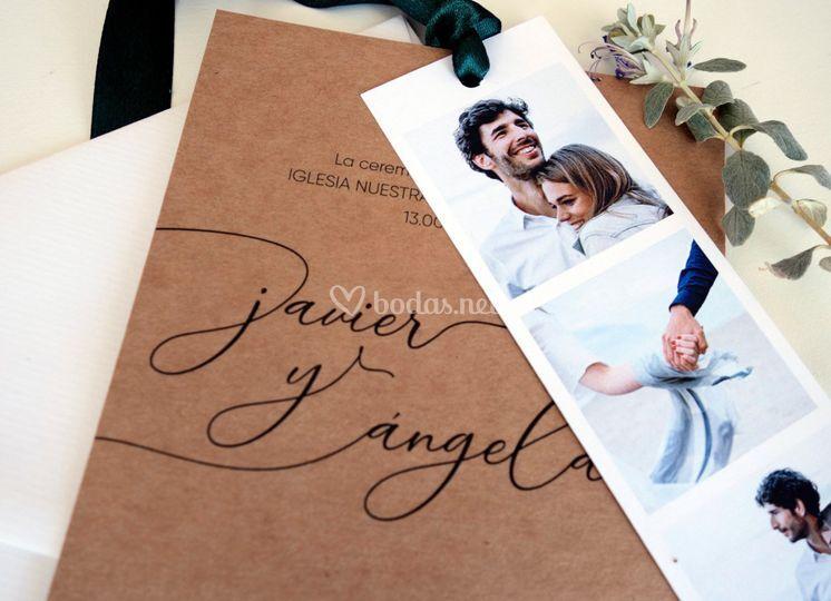 Invitaciones de boda de fotomatón
