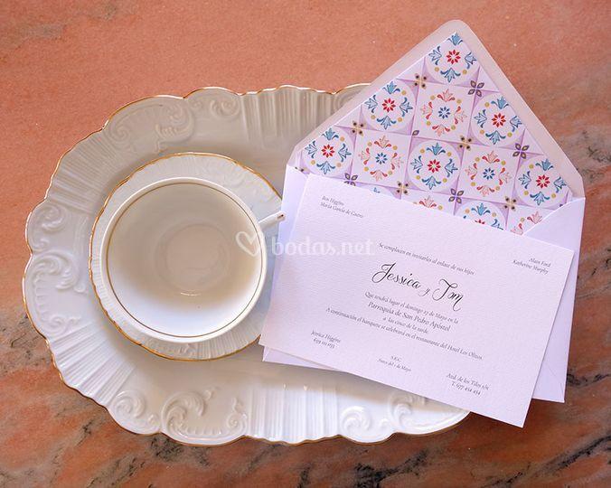 Invitaciones de boda y sobres