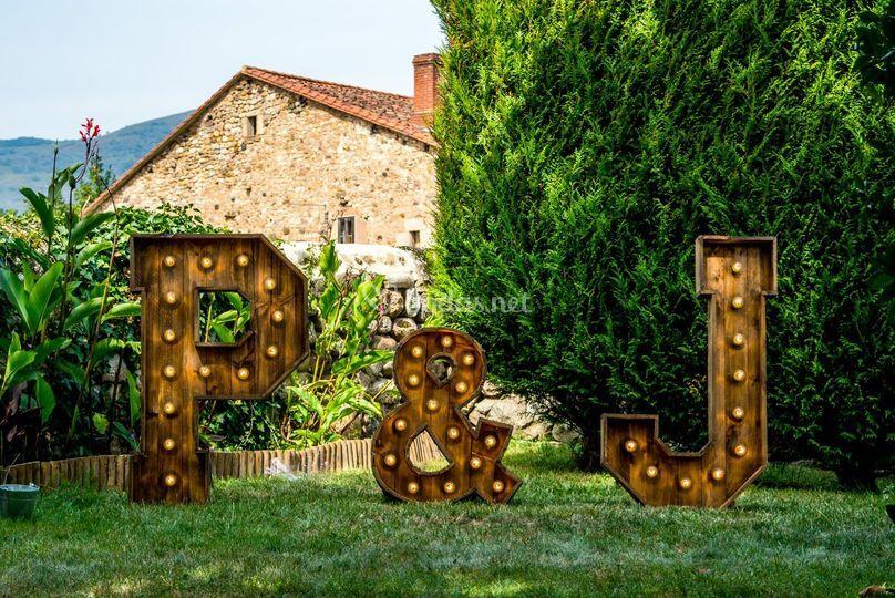 Letras con bombillas Cantabria