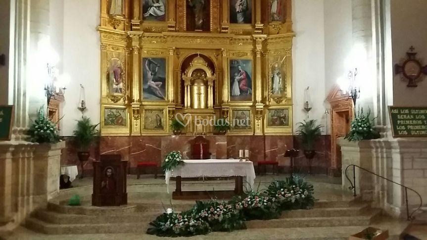 Arreglos florales iglesia