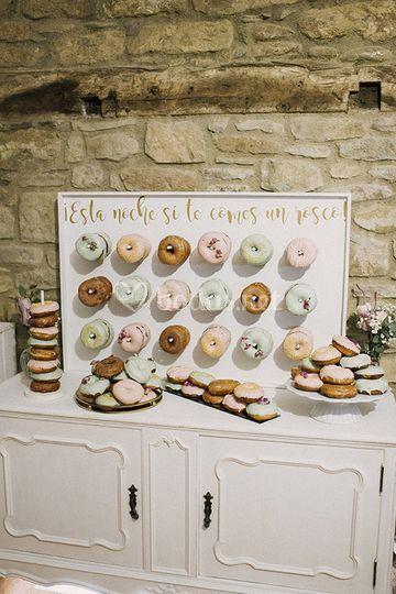 Buffet de donuts