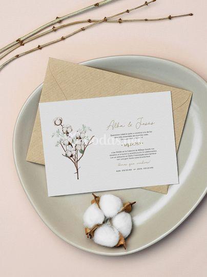 Invitación de algodón