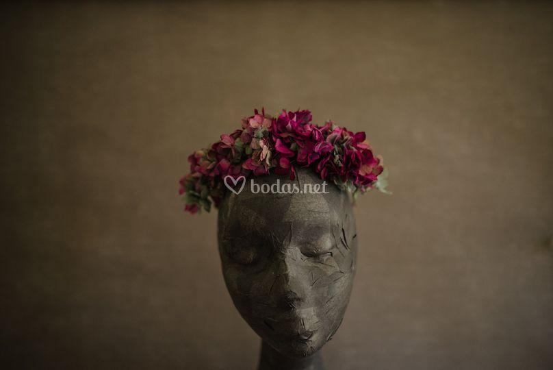Diadema hortensias naturales