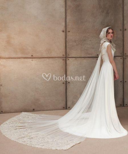 Velo y vestido de novia
