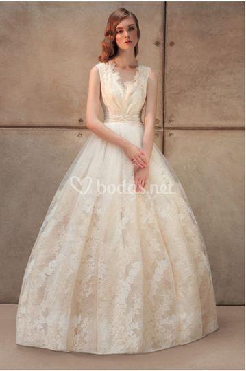 Vestido de novia pomposo