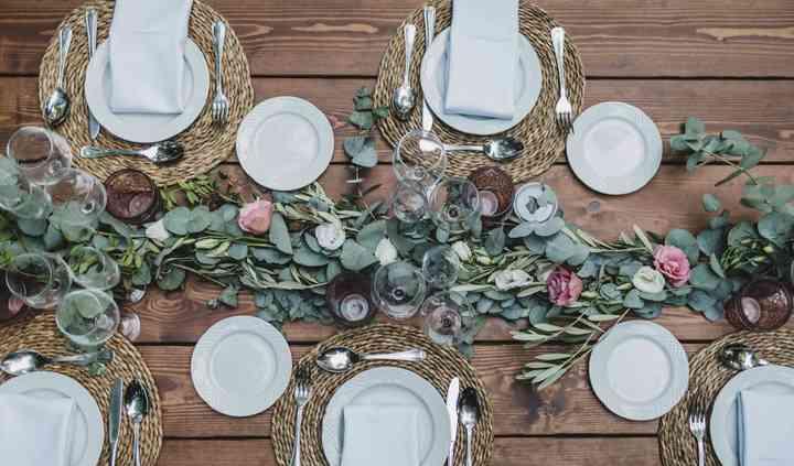 Mesa banquete de madera