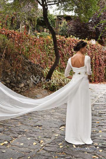 Vestido de crepé