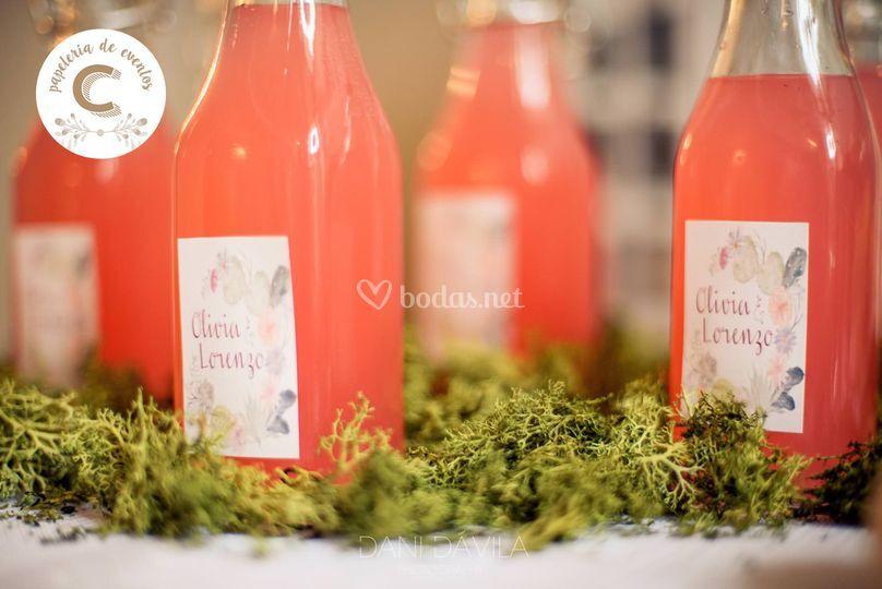 Etiquetas boda Boho