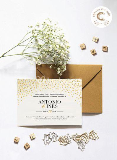 Invitación de temática elegante