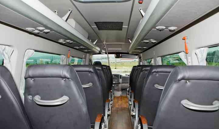 Interior del minibus