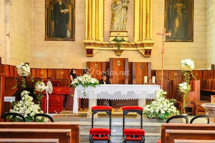 Iglesia adornada