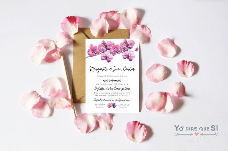 Invitación Orquídeas