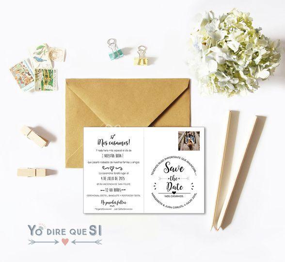 Invitación postal reverso
