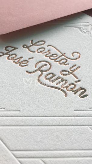 Invitación de Loreto y Jose Ramón