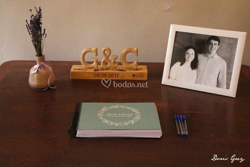 Rincón del libro de firmas