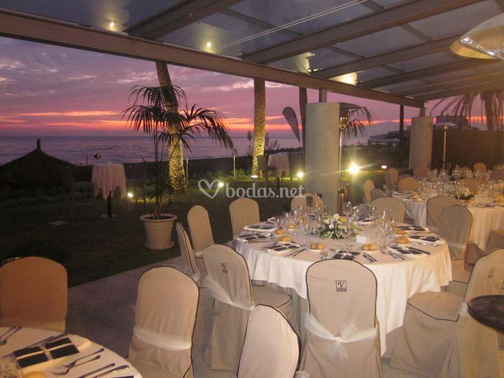 Banquete en la terraza