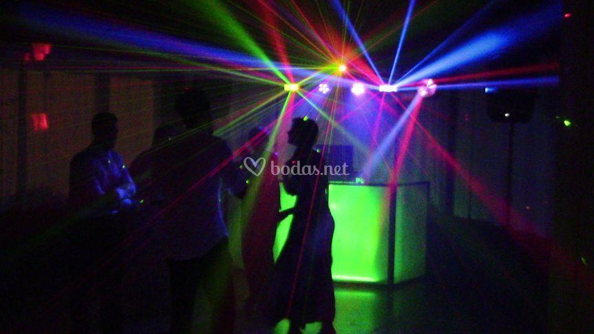 Interior de la boda de Damian y Monica