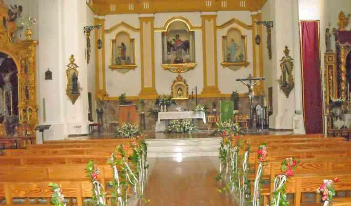 Arreglo floral para iglesia