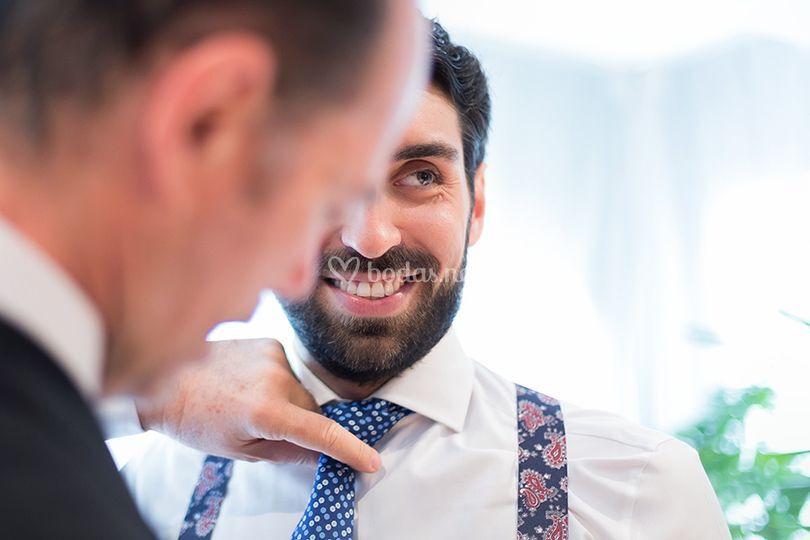 En casa del novio: corbata